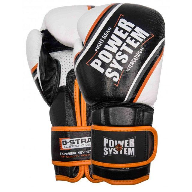 ПЕРЧАТКИ ДЛЯ БОКСА POWERSYSTEM PS 5006 CONTENDER BLACK/ORANGE LINE